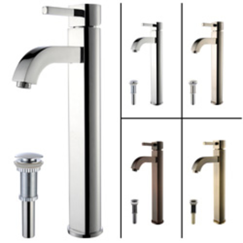 Cadell 2010191 Single Hole Bathroom Faucet [option : Brushed Nickel Without Drain]