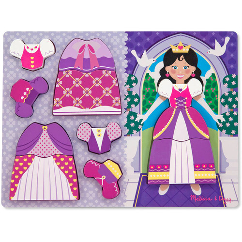 Melissa & Doug Princess Dress-Up Wooden Chunky Puzzle (11 pcs)