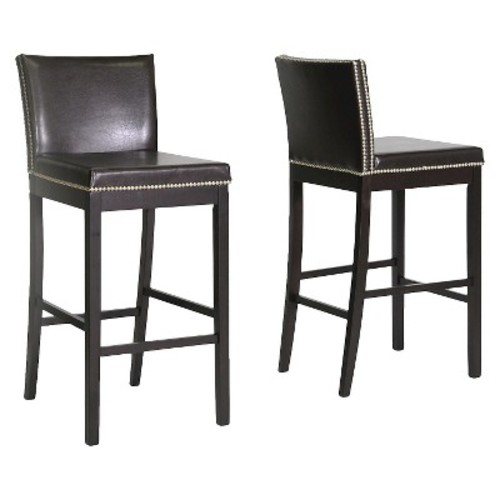 Graymoor Modern Bar Stool - Brown (Set of 2) - Baxton Studio
