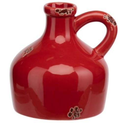 Prinz Artisan Ceramic Jug Shaped Table Vase; Red