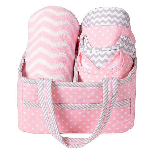 Trend Lab 6 Piece Pink Sky Baby Care Gift Set