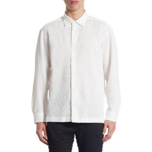 ISSEY MIYAKE Shrink Striped Shirt