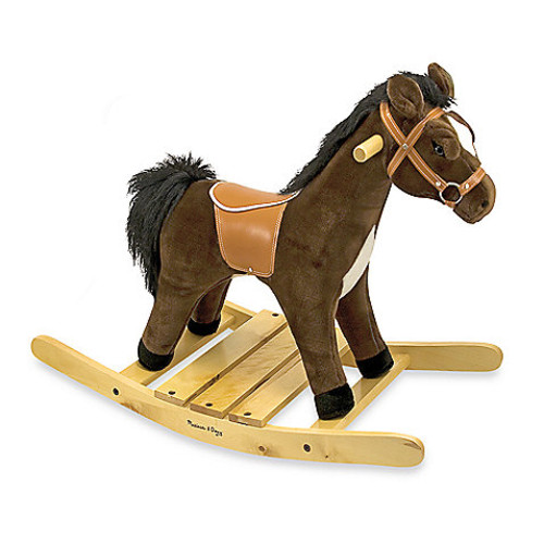 Melissa & Doug Rock and Trot Plush Ride-On Rocking Horse