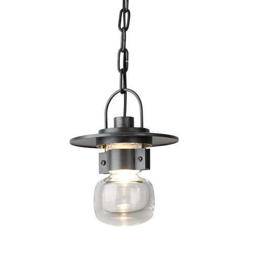 Mason Small Outdoor Ceiling Fixture [Finish : Burnished Steel]