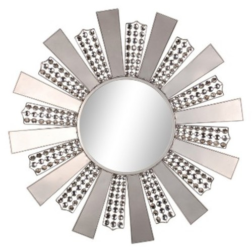 Wall Mirror-Fan Design - Silver - Home Source