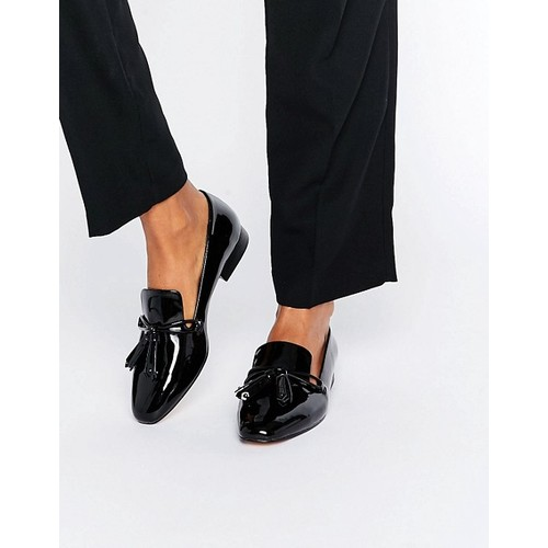 Mango Black Patent Loafer