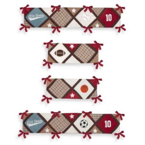 Sweet Jojo Designs All Star Sports 4-Piece Crib Bumper