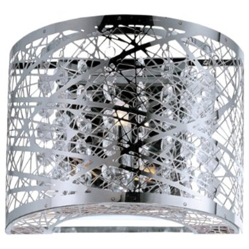 Inca Wall Sconce [Finish : Polished Chrome; Shade Color : Steel Web]
