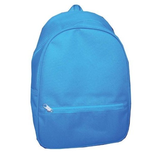 School Smart Youth Backpack with Inside Pocket and Small Front Pocket with Hidden Zipper - Blue