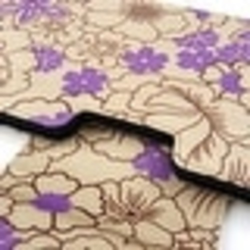 JAVOedge Purple Poppy Pattern Protective Case for Apple Wireless Keyboard, Logitech K810, K811, and More