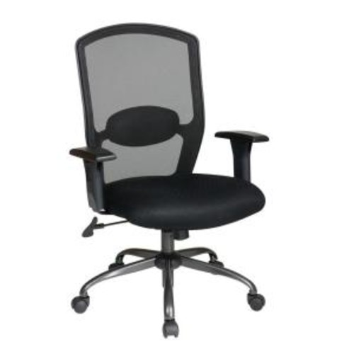 Work Smart Black Screen Back Office Chair