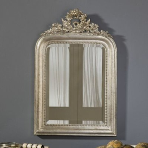 Hickory Manor House Wreath Mirror; Gold Leaf