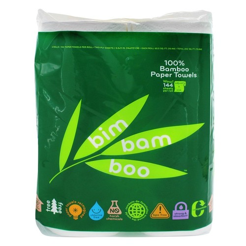 Ecosentials - Bim Bam Boo All-Natural Paper Towels - 4 Roll(s)