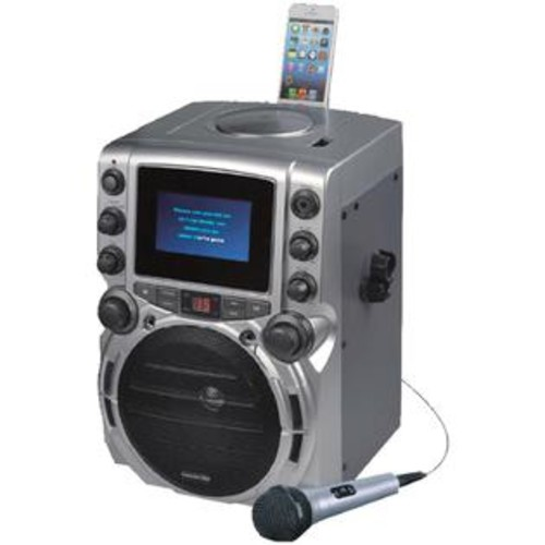 Karaoke USA(TM) GQ743 CD+G Bluetooth(R) Karaoke System with 4.3 TFT Color Screen