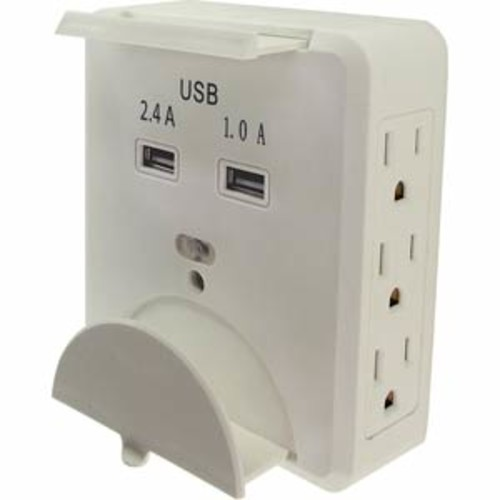 Shaxon Charging Station with 6 AC Outlets & 2 USB Ports.