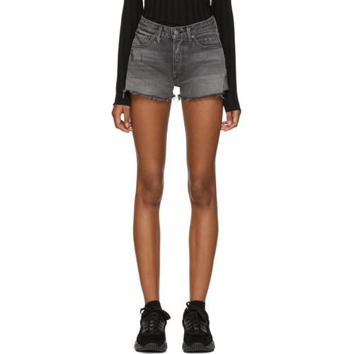 GRLFRND Grey Denim Cindy High-Rise Shorts