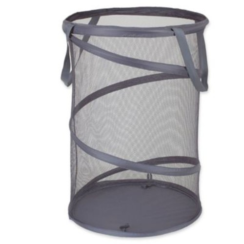 Household Essentials 16-Inch Pop-Up Laundry Hamper in Grey