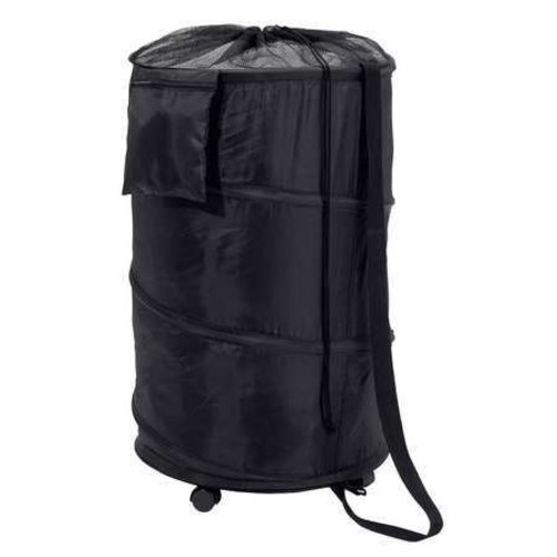 Honey-Can-Do Pop-Up Laundry Bin and Hamper with Wheels, Black