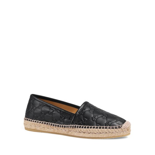 GUCCI Pilar Leather Espadrilles