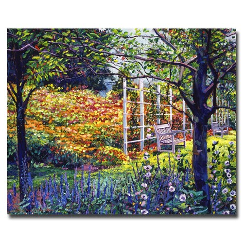Trademark Global David Lloyd Glover 'Garden for Dreaming' Canvas Art [Overall Dimensions : 18x24]