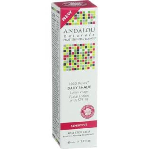Andalou Naturals Facial Lotion - 1000 Roses - Daily Shade Spf 18 - 2.7 Oz