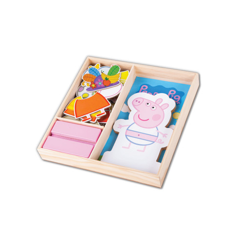 Nickelodeon Peppa Pig 25-Piece Magnetic Wood Dress Up Puzzle
