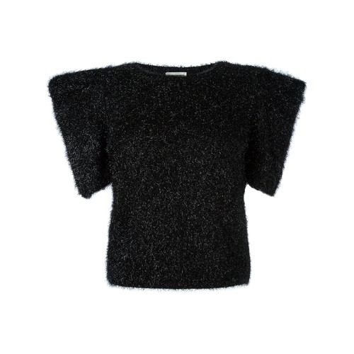 SAINT LAURENT Exaggerated Shoulder Knitted Top