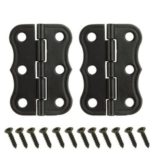 Everbilt 2 in. x 1-3/8 in. Oil-Rubbed Bronze Decorative Broad Hinges
