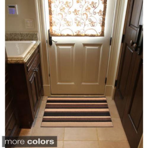 HomeTrax Designs Textura Color Block Door Mat (3' x 8') [option : Brown]