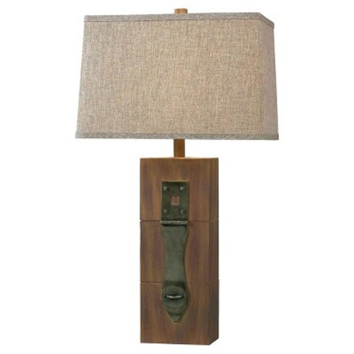 Kenroy Home Table Lamp - Antique Wood