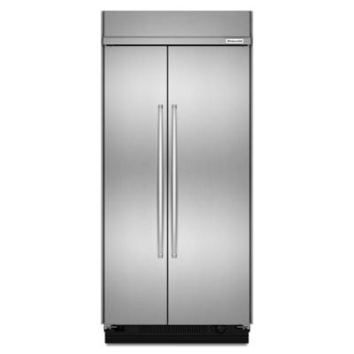 KitchenAid 42 in. W 25.5 cu. ft. Built-In Side by Side Refrigerator in Stainless Steel