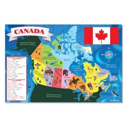 Melissa & Doug Canada Map Jumbo Jigsaw Floor Puzzle (48pc, 2 x 3 feet)