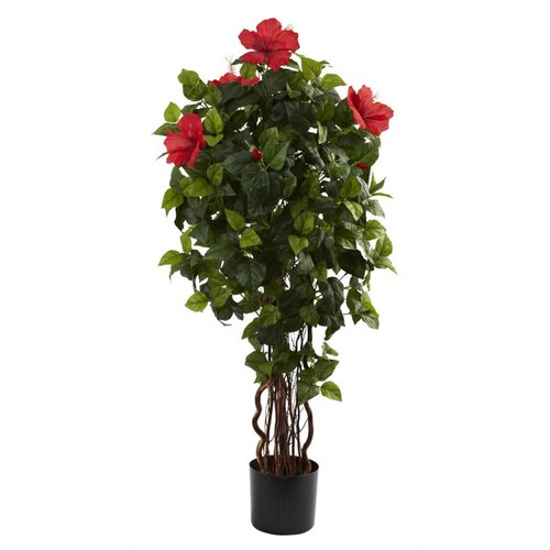 Nearly Natural 48 in. Hibiscus Silk Tree