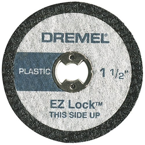Dremel EZ476 1 1/2-Inch EZ Lock Rotary Tool Cut-Off Wheels For Plastic - 5 pack