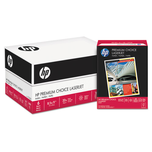 HP Printer Paper, Premium Choice LaserJet Copy Paper, 32lb, 8.5x 11, Letter, 100 Bright  500 Sheets / 1 Ream (113100R) Made in the USA