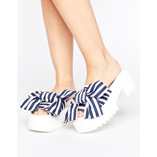 ASOS THRILL SEEKER Chunky Bow Sandals