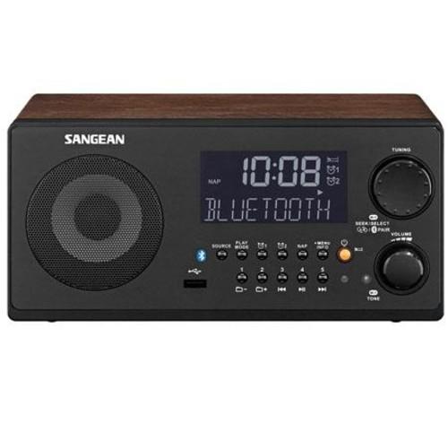 Sangean WR-22WL FM-RDS/AM/USB Radio with Bluetooth (Walnut)