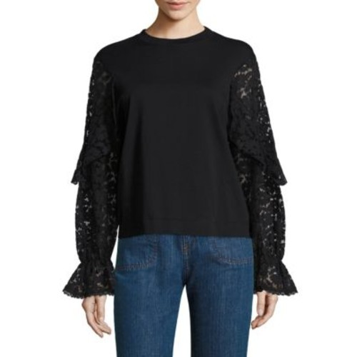 SEE BY CHLOÉ Lace Bell Sleeve Tee