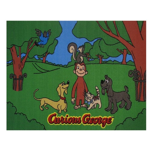 Fun Rugs Curious George George and Friends Juvenile Accent Rug, 39-Inch by 58-Inch [39
