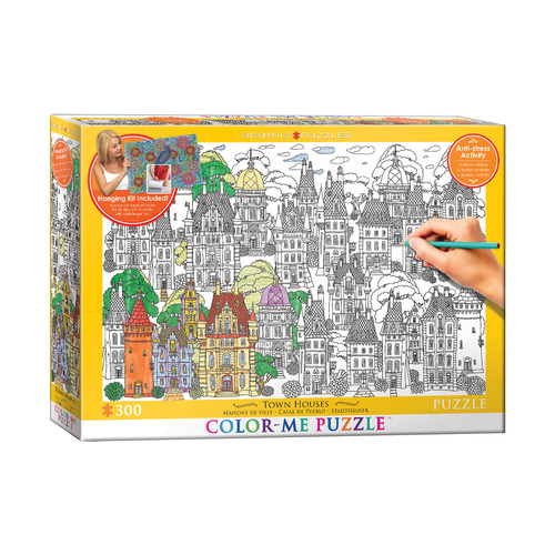 EuroPuzzles Color-Me Puzzle - Town Houses: 300 Pcs