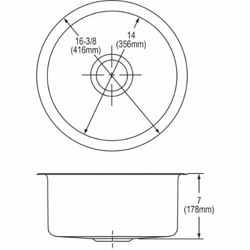 Elkay The Mystic (Elumina) Stainless Steel Single Bowl Undermount Bar Sink
