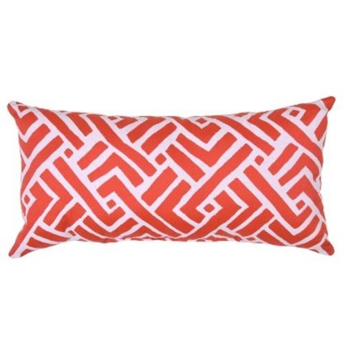 Outdoor Throw Pillow Lumbar - Global Weave Red - Threshold