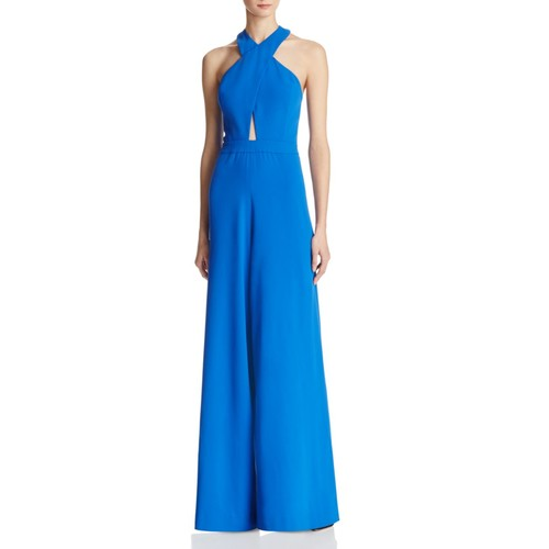 ALICE AND OLIVIA Trinity Cross-Front Jumpsuit