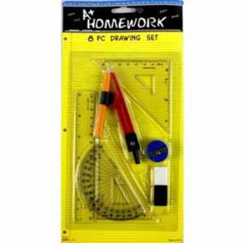A+ Homework Math Drawing Set - 8 Pieces - *Assortment
