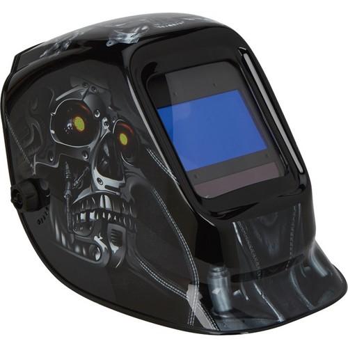 Klutch 900 Series Digital Large View Auto-Darkening Welding Helmet  Skull Design