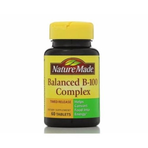Nature Made Balanced Vitamin B-100 Complex Tablets 60 ea (Pack of 2)