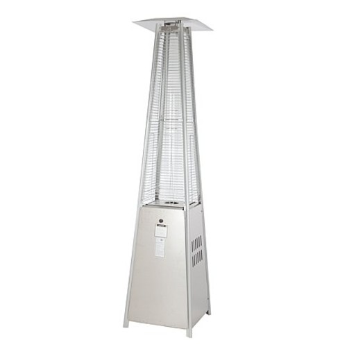 Pyramid Flame Heater - Stainless Steel