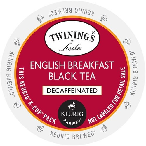 Twinings of London English Breakfast Decaf Tea K-Cup Portion Pack