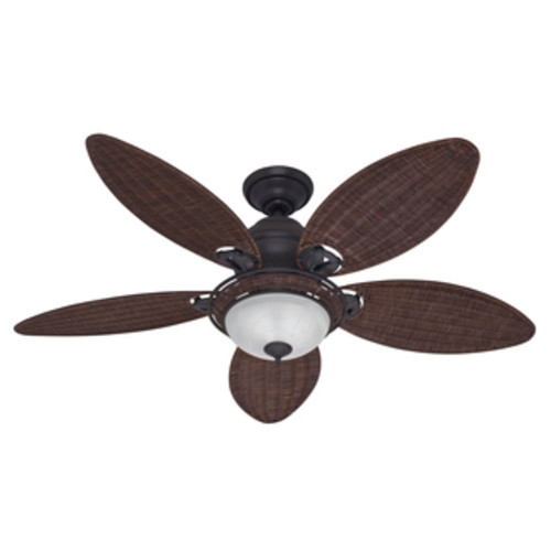 EcoSure Siesta Key Bowl Light Bronze 52-inch Ceiling Fan with Wicker Blades and Remote Control