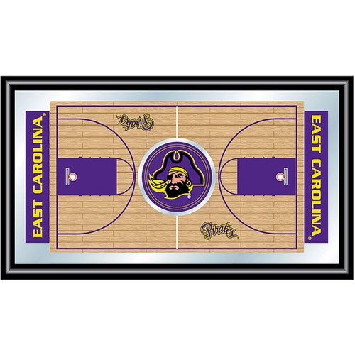 Trademark Games East Carolina Pirates Basketball Framed Full Court Mirror